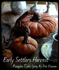 Early Settlers Harvest Table Arrangement