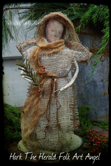Hark The Herald Folk Art Angel