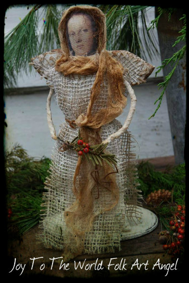 Joy To The World Folk Art Angel E-Pattern