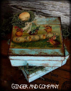 Vintage Easter Chick Box
