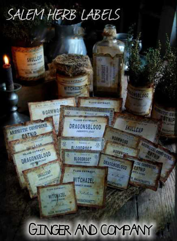 Salem Herb Extract Label Collection 1