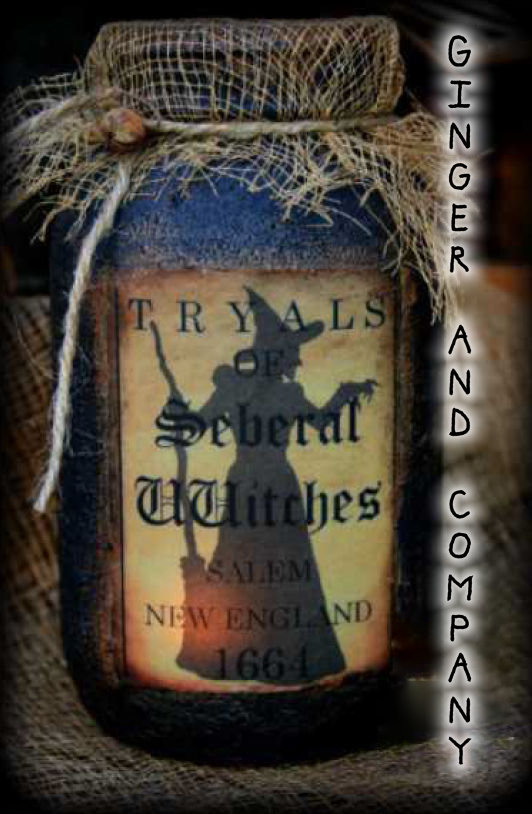 Seberal Witch Tryals Jar