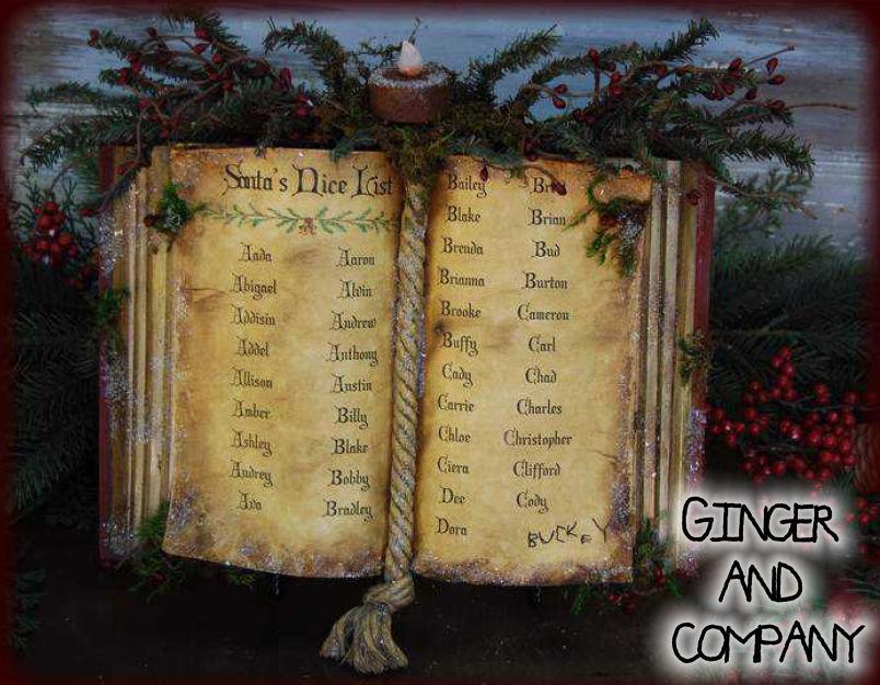 Santa Nice List Book