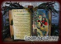 T'was The Night Before Christmas Antique Book