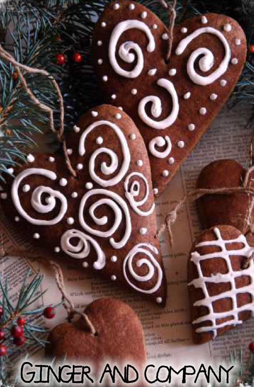 German Gingerbread Heart Ornament