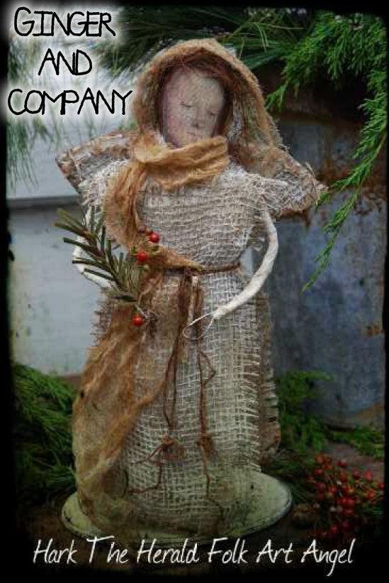 Hark The Herald Folk Art Angel