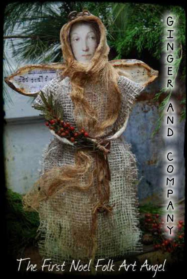 The First Noel Folk Art Angel