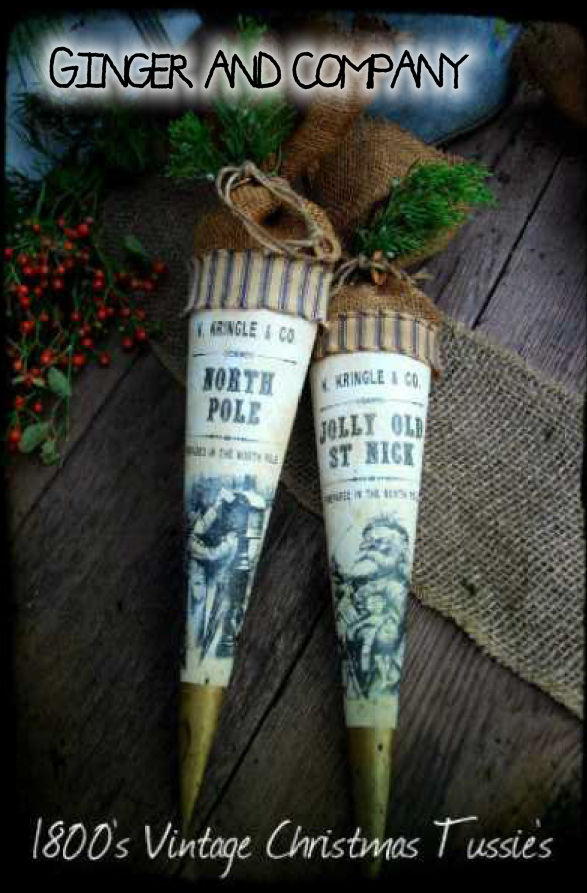1800's Vintage Christmas Tussie - North Pole & Jolly Old St. Nick