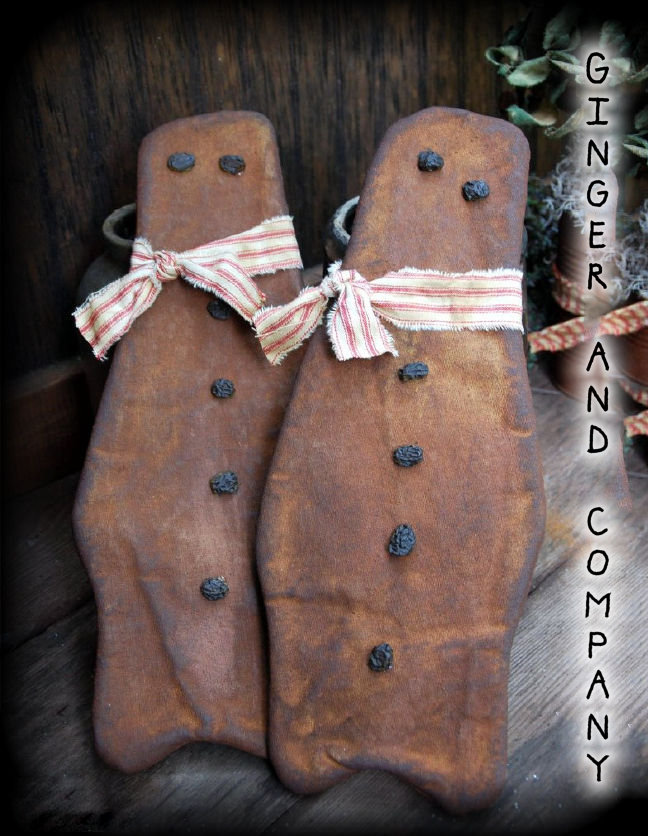 Early Settlers Gingerbread Flatties