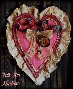 Vintage Valentine Candy Box Medium