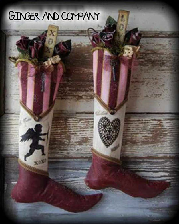 Vintage Valentine Cupid Stockings