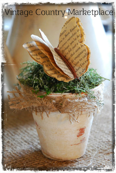 Vintage Flower Pot Butterfly E-Tutorial