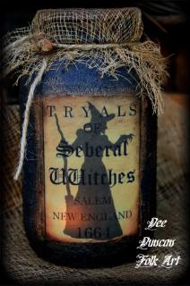 Seberal Witch Tryals Jar
