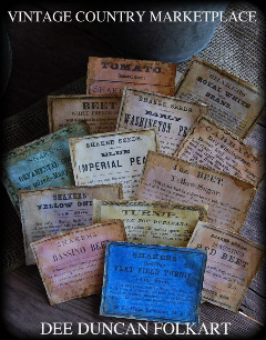 Vintage Seed Labels E-Labels Set of 13