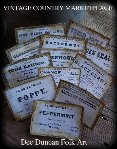 Vintage Extract Labels - Set of  13