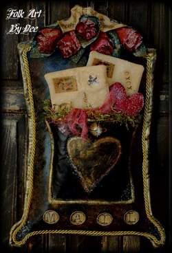 Vintage Valentine Mailbox & Envelopes