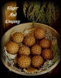 Early Dried Orange Clove Pomanders