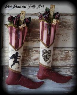 Vintage Valentine Cupid Stockings