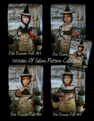Witches Of Salem Pattern Collection - SALE $20 For 5 Patterns